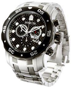 Invicta Pro Diver 14339, un reloj de estilo y elegancia.  Carátula de fibra de carbono en color negro y caja de 48 mm.