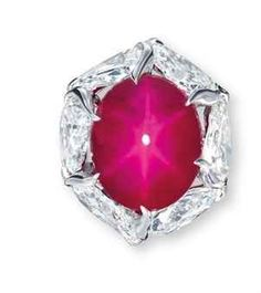 Star Ruby and Diamond Ring, by Etcetera