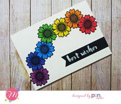 Bright colorful card with Mendhika stamps. Good Morning Friends, Color Card, Stamps, Colorful, Bright, Cards, Design, Seals