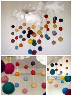 How cool is this! You could make it with a Little Lamb Felt Ball Garland. LOVE!