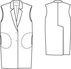 Sleeveless Jacket 08/2014 #127 – Sewing Patterns | BurdaStyle.com