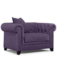 "Martha Stewart Fabric Living Room Chair, Saybridge Arm Chair: Custom Colors 52""W x 40""D x 31""H - furniture - Macy's"