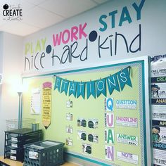 "2,146 Likes, 131 Comments - Ashley Marquez (@teachcreatemotivate) on Instagram: ""Finally got my quote wall finished!  this is our class mantra this year-stick to these 3 things…"""