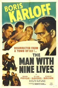 The Man With Nine Lives (1940) USA Columbia Horror Boris Karloff. 14/03/07