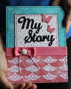 neat idea for my scrapbooks front page.