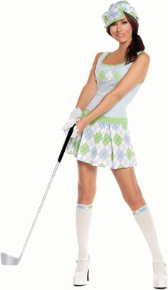Golfing Costumes for Women. Are you thinking about dressing up in a golf costume for Halloween? Here is your chance! This golf costume for women is from 3Wishes