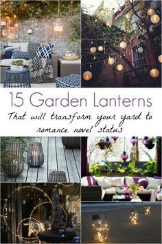 One look at these dreamy garden lanterns and you'll think you're on the set of a Nicholas Sparks movie. See how garden lanterns upgrade a space!