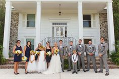Navy Charleston Wedding at the Island House by Jeanne Mitchum Photography and Mac & B. Events with Sunflower Details