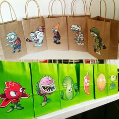 Plants vs zombies goodie bags