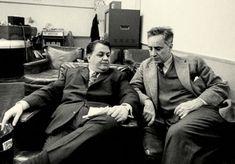 1963. Με τον Ελία Καζάν στην ηχογράφηση της μουσικής για την ταινία America America.