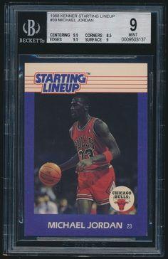 1988 Kenner Starting Lineup #39 Michael Jordan BGS 9 Mint #ChicagoBulls