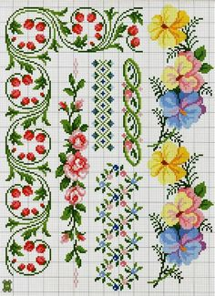 This Pin was discovered by Peo Simple Cross Stitch, Cross Stitch Rose, Cross Stitch Borders, Cross Stitch Flowers, Cross Stitch Charts, Cross Stitch Designs, Cross Stitching, Cross Stitch Embroidery, Hand Embroidery