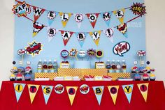 Superheros Baby Shower Party Ideas | Photo 14 of 20 | Catch My Party