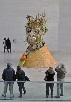 Winter (After Arcimboldo) (2010), a colossal 15-foot-tall, fiberglass sculpture by American artist and filmmaker Philip Haas (b. 1954).