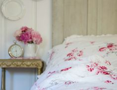 FRENCH COUNTRY COTTAGE: In the Cottage~ Summer Bedroom Details