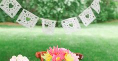 DIY Papel Picado Bunting template