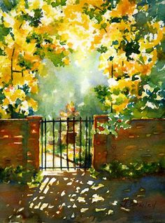 Beaufort Gate watercolor painting by Jennifer Branch #watercolorarts