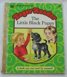 Little Black Puppy Vintage Little Golden Book $4.50