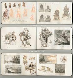 Sketchbook pages | character design | illustration | Pierre-Antoine MOELO