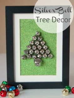 Silver Bell Tree Decor for the Holidays makeandtakes.com @theCityMoms
