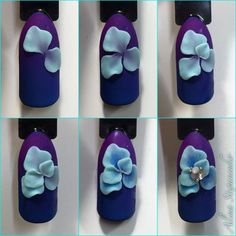 Luxury Nails – Great Make Up Ideas 3d Nail Designs, Nail Art Designs Videos, Flower Nail Designs, Elegant Nail Designs, 3d Nail Art, 3d Acrylic Nails, 3d Nails, 3d Flower Nails, Airbrush Nails