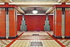 Berlin, underground station, Art #Deco (Theater room lobby in the basement? VDR)