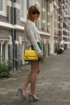love the simple look with a tucked in sweater