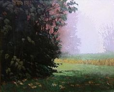 Montlake Fog | Marc Bohne | oil on panel.