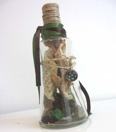 Wicca Money Spell Bottle - Wiccan Pagan Wicca Magick - Prosperity, Wealth, Cash, with herbs, roots, gems, Magickal Writing, magic wizard via Etsy