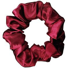 Burgundy Satin Scrunchie ** Want to know more, click on the image.(This is an Amazon affiliate link)