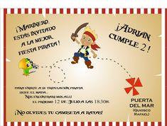 Invitaciones De Cumpleaños De Piratas Para Imprimir 11  en HD Gratis