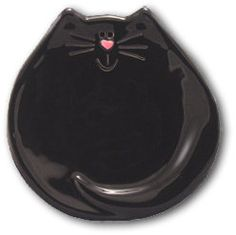 August Ceramics Black Cat Dish / Spoon Rest / Soap Dish