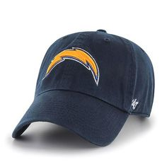 af12acc029e NFL Los Angeles Chargers  47 Brand Clean Up Slouch Relax Shield Adjustable  Hat