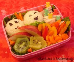 Packing healthy school lunches for your child is an easy thing we can do to keep them healthy! Bento boxes are a creative kids lunch. Healthy Lunches For Kids, Lunch Snacks, Healthy Snacks For Kids, Healthy Foods To Eat, Healthy Recipes, Creative Snacks, Box Lunches, Healthy Eating, Healthy Teeth