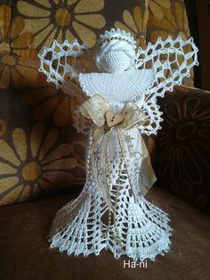 Crochet Angel Pattern, Burlap Wreath, Wreaths, Christmas, Good Ideas, Yule, Merry Christmas, Ganchillo, Tejidos