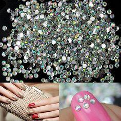 1000x Nail Art Tips Crystal Glitter Rhinestone Cellphone Craft Decoration 2mm