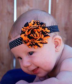 Halloween Headband Orange and Black Baby by SweetieBabyBoutique, $4.95