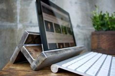 Salvaged Wood iPad Stand