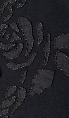 Modern Applique with contrasting stitches - sewing ideas, fabric manipulation // Alabama Chanin