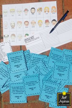 This task card guessing game is 100% en español and designed for novice learners. 25 cards give a clue describing a person on the Guess Who board game. Students read the cards and guess who is described. The content is designed for novice learners to develop interpretive communication skills through comprehensible input. Activity ideas are included, but there are so many ways you can be creative with these cards.