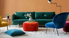 Expect to see emerald greens, plums, black, orange and browns. The big-impact colour for the year – striking, confident and bold red.