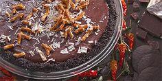 Fiery Triple Chocolate Cream Pie