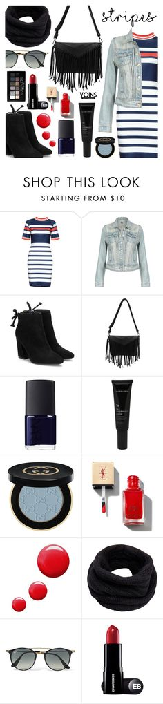 """Yoins - Big, Bold Stripes"" by dora04 ❤ liked on Polyvore featuring NARS Cosmetics, Allies of Skin, Gucci, Topshop, Helmut Lang, Ray-Ban, Maybelline, BoldStripes, yoins and yoinscollection"