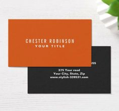 57 best generic business cards images on pinterest in 2018 orange modern generic simple masculine personal business card friedricerecipe Gallery