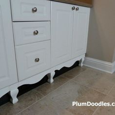 How to add detail to a bathroom vanity (moderately difficult)