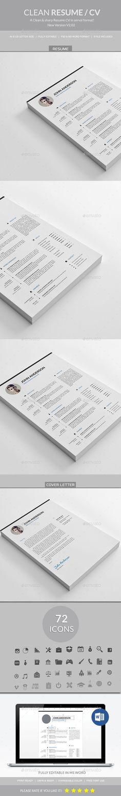 Resume\/CV Resume cv and Ai illustrator - interactive resume template