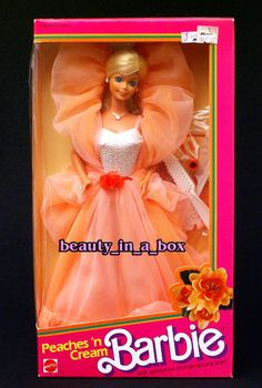 Peaches and Cream Barbie  another one i loved.  saw a barbie fashion show with a lady in this exact dress.
