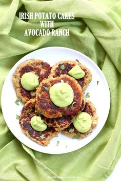 Traditional Irish potato cakes known as boxty, made eggless and vegan. Serve with avocado basil garlic ranch dressing. Vegan Soyfree Recipe   VeganRicha.com