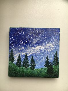 "Check out my other mini paintings! Mini Canvas: 2.5"" × 2.5"" Wilderness Dreams Acrylic Painting (originally created)"