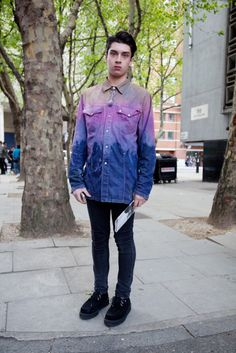dyed denim jacket- galaxy outfit
